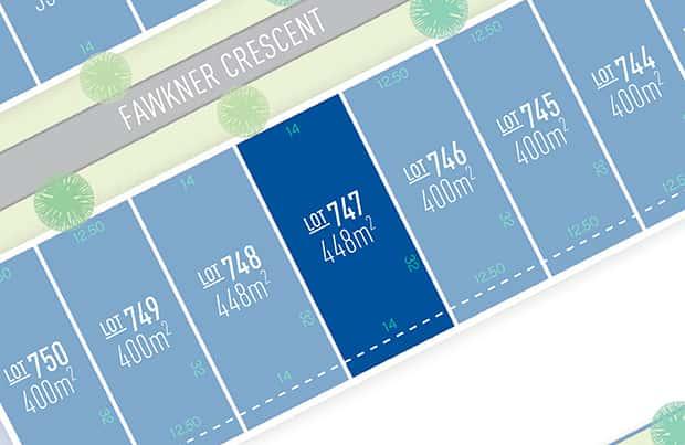 Anchoridge Lot 747 for sale on Fawkner Release B