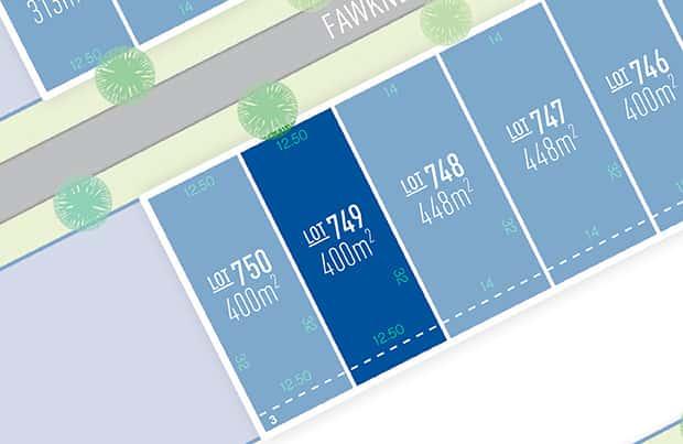 Anchoridge Lot 749 for sale on Fawkner Release B